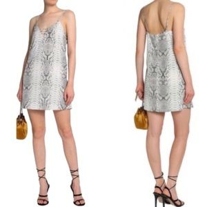 Haute Hippie snake print slip dress